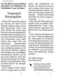 Allgemeine Zeitung Bad Kreuznach Reaktionen