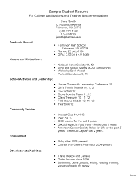 high resume sle for college admission student resume objectives exles of good resumes that jobs
