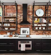 kitchen wall cabinets vintage 95 stylish kitchens with brick walls and ceilings digsdigs