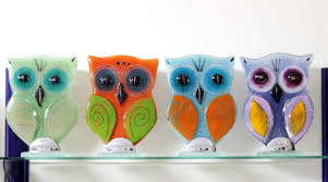 fused glass owl sculpture by mziv on deviantart
