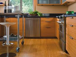 simple bamboo flooring in kitchen for home decor arrangement ideas