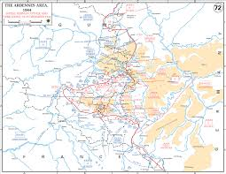 Ww2 Europe Map by Map Of Wwii Ardennes December 16 25 1944