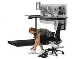 Computer Desk Treadmill Sit To Walkstation Desk Treadmill Burn Calories While You Work