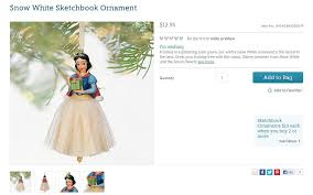 snow white sketchbook ornament us disney store product p flickr