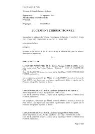 chambre correctionnelle cour d appel chambre correctionnelle cour d appel 4 n1 jugement fran231ois