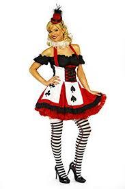 Ladies Halloween Costumes Uk Ladies Costume Queen Hearts Card Suit Fancy Dress Free
