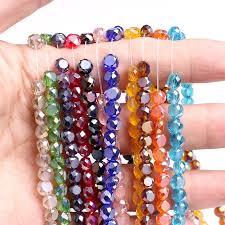 beads necklace wholesale images Wholesale faceted bread crystal glass beads quartz 6mm 100pcs jpg