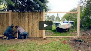 installing a framed bamboo friendly fence on vimeo