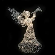 Lighted Angel Outdoor Christmas Decorations by Outdoor Christmas Lighted Angel With Trumpet
