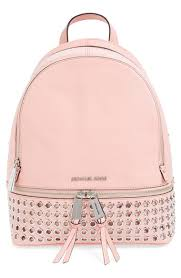light pink leather backpack buy leather backpack michael kors off64 discounted