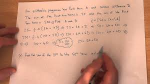 arithmetic sequences solving problems involving arithmetic