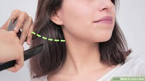 cut your own hair with clippers women the best way to cut a bob wikihow