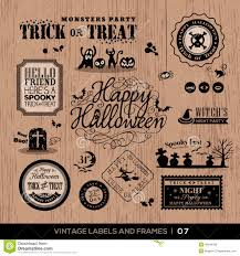 vintage halloween badge labels and frames stock vector image