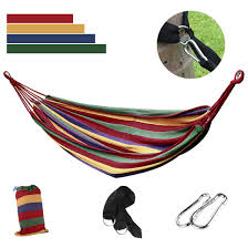 Hammock Air Chair 300kg Double Cotton Fabric Hammock Air Chair Hanging Swinging