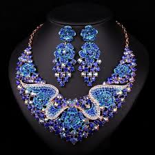 sapphire necklace set images Sapphire jewelry set necklace and earrings atperrys jpg