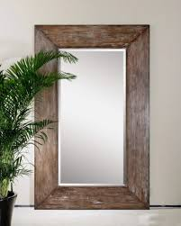 large wall mirror oversize rustic wood xl luxe