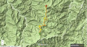 Mountain Map Shining Rock Mountain Art Loeb Trail In The Shining Rock Wilderness