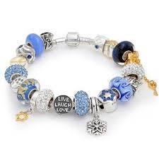 pandora charm bracelet sterling silver images Sterling silver hanukkah bead bracelet fits european style bracelets jpg