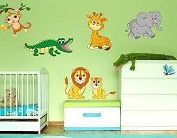 wandsticker safari tiere b x h 40cm x 26cm klebefieber - Klebefieber Kinderzimmer