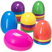 Jumbo Plastic Easter Eggs Decorations by Plastic Easter Eggs