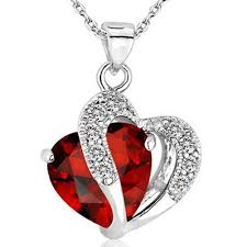heart rhinestone necklace images Heart crystal rhinestone necklace jpg