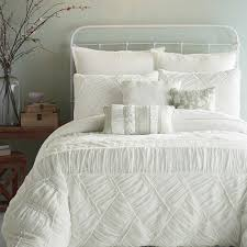 Bed Bath And Beyond Crib Bedding Bedroom Enchanting White Ruffle Comforter For Bedroom Decoration