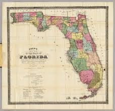 Map Of Jacksonville Florida by New Map Of The State Of Florida Drew Columbus 1870