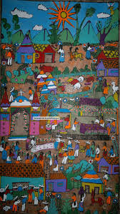 mexican amate bark painting latin native ethnic folk art wall