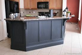 kitchen island makeover with corbels part two construction