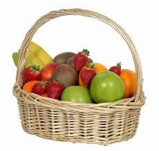 basket fruit basket of fresh fruit beautiful flowers florist hutt