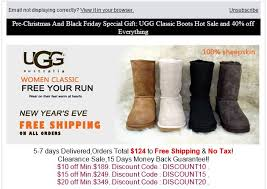ugg sale promo ugg fans targeted with black friday phishing caign hotforsecurity