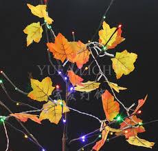 cheap wholesale seven color fall leaves 10 led light string autumn