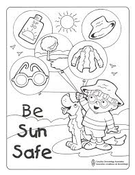 summer safety worksheets coloring pages sun creativemove