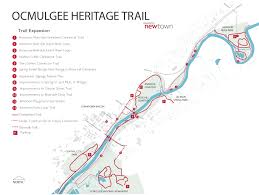 Riverside State Park Trail Map by Ocmulgee Heritage Trail Newtown Macon