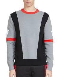 givenchy sweater givenchy asymmetrical stripes sweatshirt grey apparel
