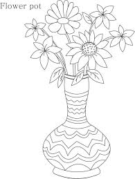 easy sketches of flower pot simple flower pot sketches drawing