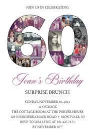 birthday invitation 60th birthday invitations new