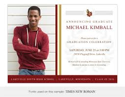 high school graduation announcement lakeville south high school graduation invitations and