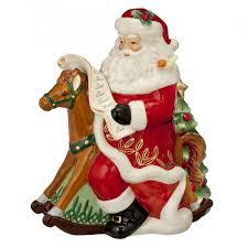rocking santa cookie jar waterford heirlooms us