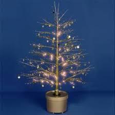 premier fibre optic gold sequin christmas twig tree 120cm amazon