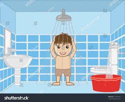small kid bathing shower stock vector 274346375 shutterstock small kid bathing in shower