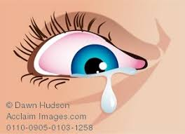 illustration of a eye with a teardrop