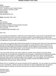 cover letter for college professor cover letter tips for