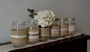 rustic wedding centerpieces mason jars decorating of party