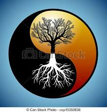 tree and it s roots in yin yang symbol tree and it s roots