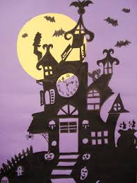 a faithful attempt haunted house silhouette painting