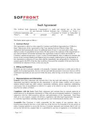 Service Contract Termination Letter Template Saas Agreement Template Best Example Of Business Template