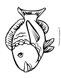 cartoon fish pictures kids coloring