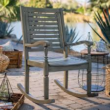 White Slat Rocking Chair by Outdoor Rocking Chairs Hayneedle