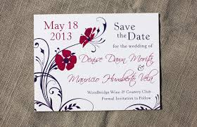 Online Save The Dates Dark Purple U0026 Fuchsia Cherry Blossom Floral Swirl Wedding